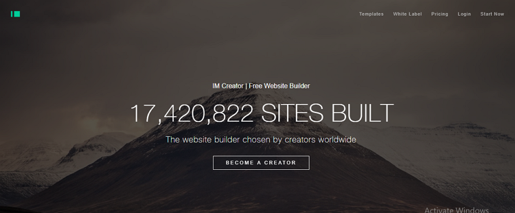 IM Creator website builder