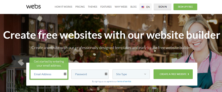 webs site builder